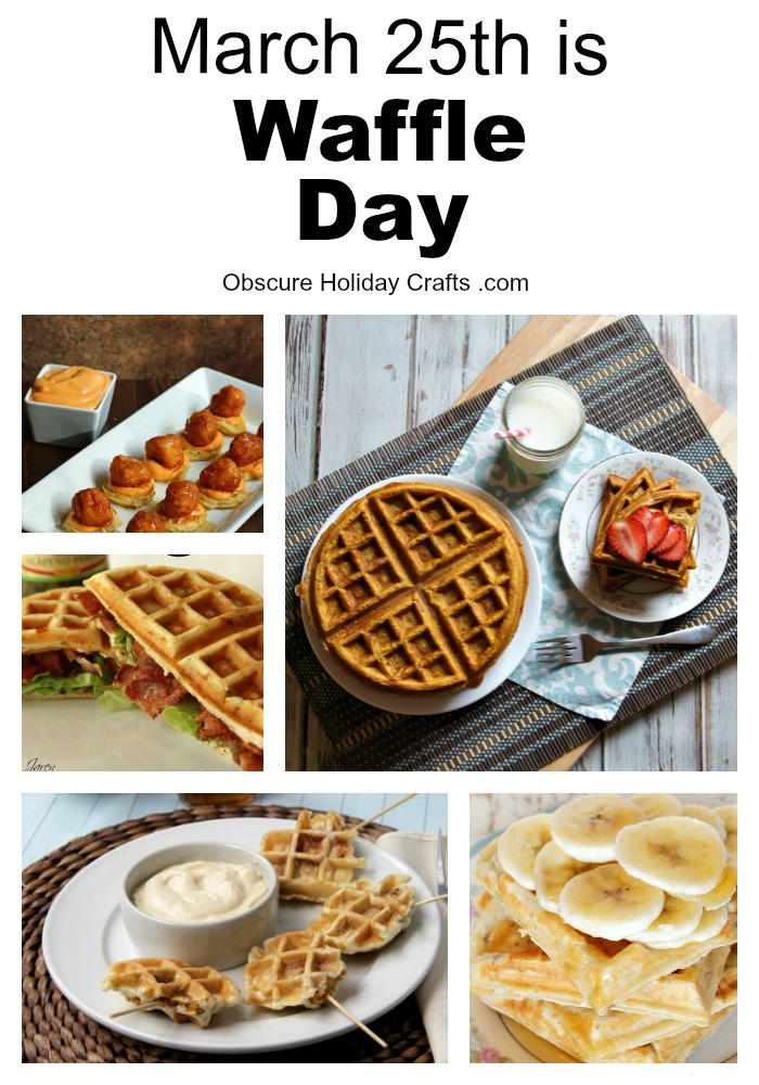Amazing waffle recipes from Obscure Holiday Crafts
