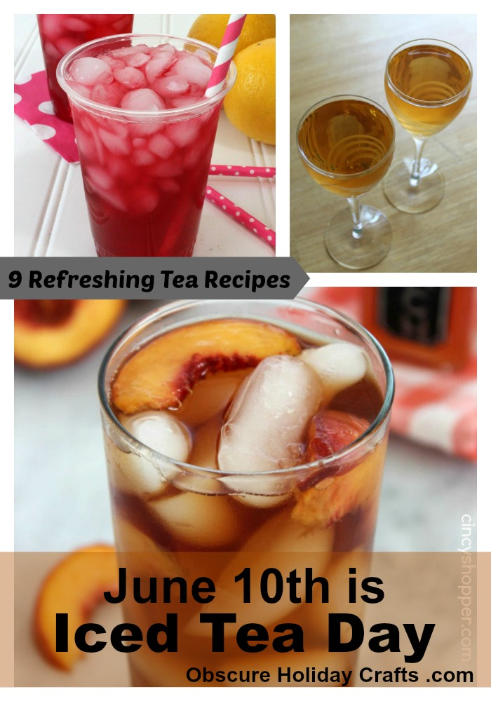 Iced Tea Day Obscure Holiday Crafts